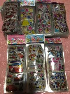 Instock kids stickers brand new buy 5 get 1 free