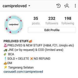 Follow us on instagram! (@camipreloved)