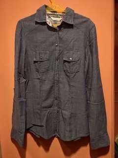 Promod long sleeved blue top