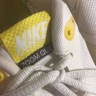 NIKE white and yellow training shoes