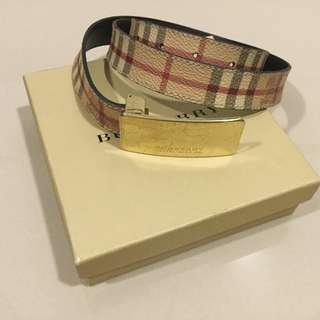 Burberry Authentic Belt, Haymarket Belt