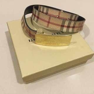 Burberry Authentic Belt, Haymarket Belt