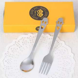 Wedding Door Gifts - Stainless Steel Spoon Fork Set 1-4