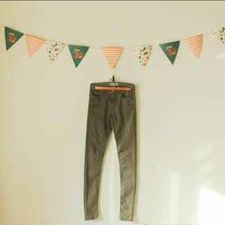 Topshop olive skinny jeans