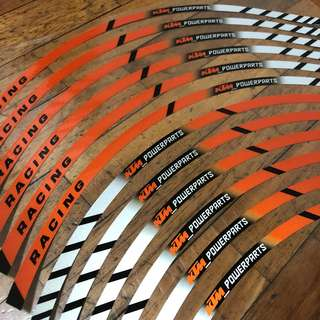 KTM Rim Reflective Sticker