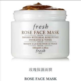 fresh ROSE FACE MASK 玫瑰保濕面膜(48ml/104ml)🌹💦✨全新✨