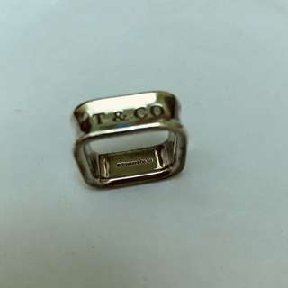 Tiffany & Co Sterling Silver 1837 Square Ring (size 6)