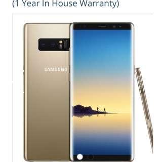 BNIB Warranty Samsung Note 8 , SingTel  collect on 9 March