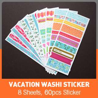 Vacation Washi Sticker