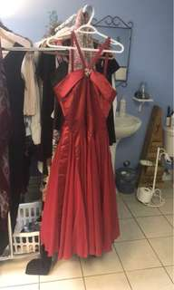 Size 3/4 red ball gown