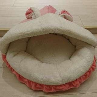 兔耳萌萌粉色寵物睡窩