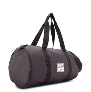 Herschel Black Duffel Bag