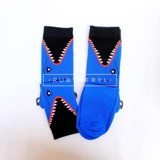 Blue Shark Socks