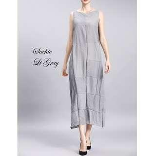Premium. Sachie Pleat Dress. Free Size.