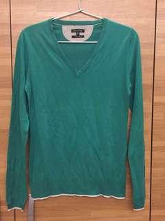 Massimo Dutti 綠色針織上衣