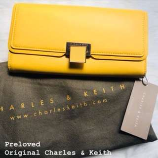 Authentic Charles & Keith Wallet Yellow