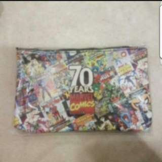 In Stock Marvel Heroes 70 Years Of Marvel Comics Pencil Case Stationery Pouch Size is 20.5 × 13cm