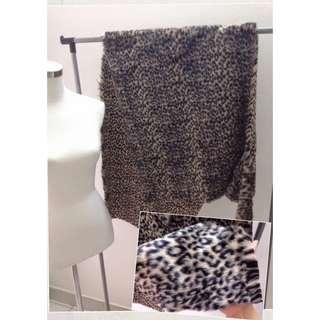 Leopard Print Fur Cloth
