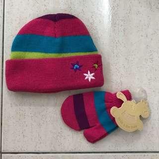 Hat & Mitten Set, 0-24mths