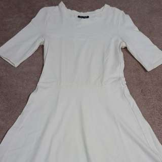Topshop Off white dress