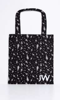 Brand new with tag authentic Jack Wills black white stars tote book bag
