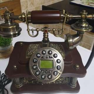 復古有線座台電話(可Bluetooth接駁手提電話)