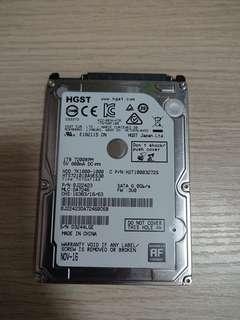 HGST 1TB 2.5吋 7200RPM 硬碟