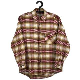 第二件6折🎉法蘭絨格紋襯衫 古著 復古 二手