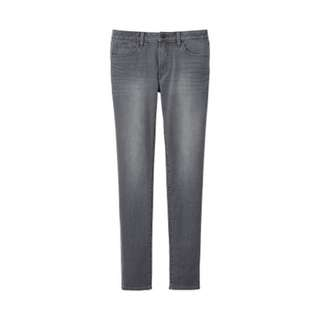 Uniqlo Skinny Tapered Jeans 男装彈力緊身窄口牛仔褲 W30 煙灰色 褲長改短 146135
