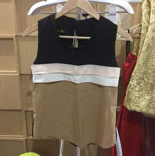 Mocca lined top