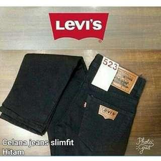 Celana jeans pria hitam