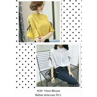 Blouse casual sleeve flair