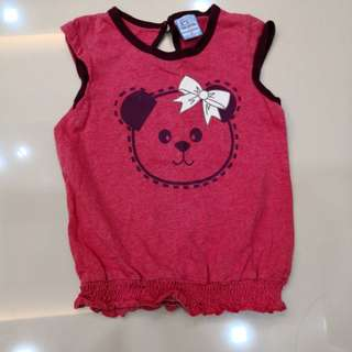Tenderly Red Sleeveless Shirt (2y)