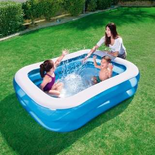 Kolam Renang Anak Bestway Blue Rectangular Family Pool 201cm 54005