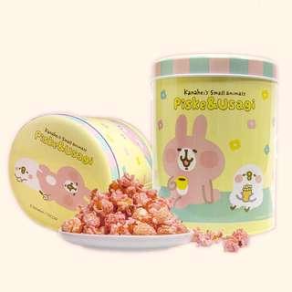 日本聯名款台灣代購 卡娜赫拉 兔兔P助 草莓爆米花桶