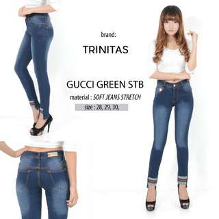 Jeans Gucci blue / green