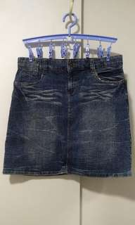 Brand New XXL Stretchable Denim Skirt