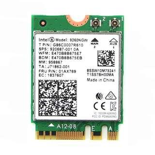 Intel 9260NGW Dual Band Wireless-AC WiFi + Bluetooth 5.0 PCI-e Module