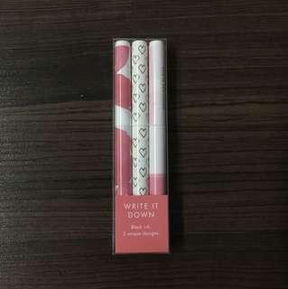 Pink Pen Set