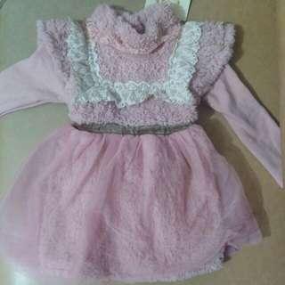 💟包順豐智能櫃💟粉色厚全身裙