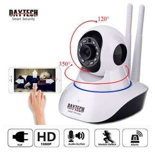 Security IP Camera FHD 1080P Wi-Fi Wireless Surveillance WiFi P2P CCTV Network Baby Monitor Two Way Intercom Audio