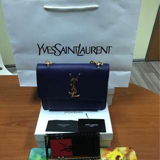 YSL SLING BAG BLUE COLOUR