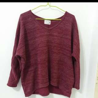 Maroon Wine Red pullover - Korean