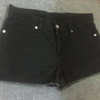 celana pendek shorts pants black