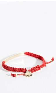 Brand new with tag authentic Jack Wills red Mellanby bar adjustable bracelet