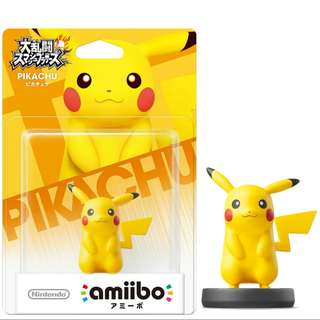 Nintendo Amiibo Pokemon Super Smash Bros. Series Figure Pikachu Wii U 3DS