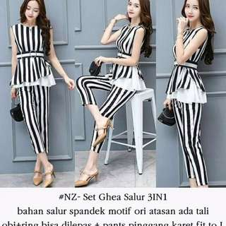 One set top + long pants woman outfit