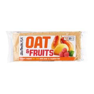 BiotechUSA: Oats & Fruits Bar - Pear & Raspberry