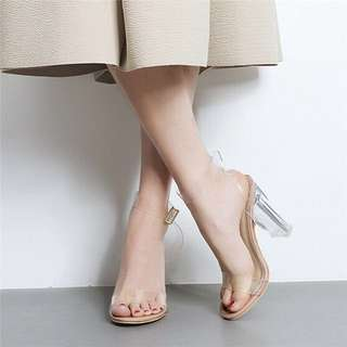 Fashion Casual Perspective Sexy Transparent Heels