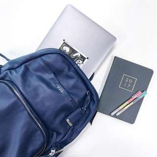 Tumi Calais Leather Backpack Voyageur